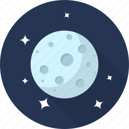 cloud, forecast, moon, night, rain, space, weather icon