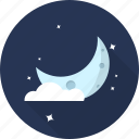cloud, crestcent, forecast, moon, night, space, weather