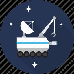 robot, rocket, satellite, space, spaceship, technology icon