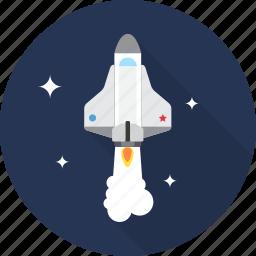 rocket, ship, space, spacecraft, spaceship icon