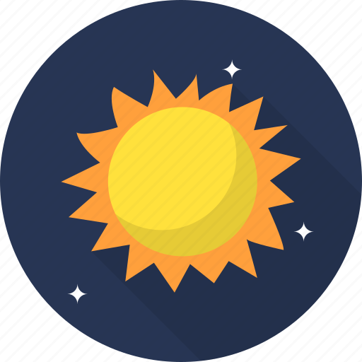 cloud, forecast, space, sun, sunny, weather icon