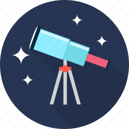 astronomy, binoculars, space, telescope, view icon