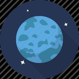 galaxy, planet, space, uranus icon