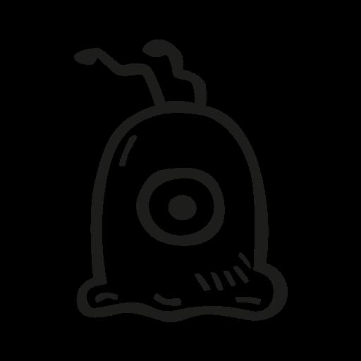 brain, fan art, futurama, scifi, slug icon