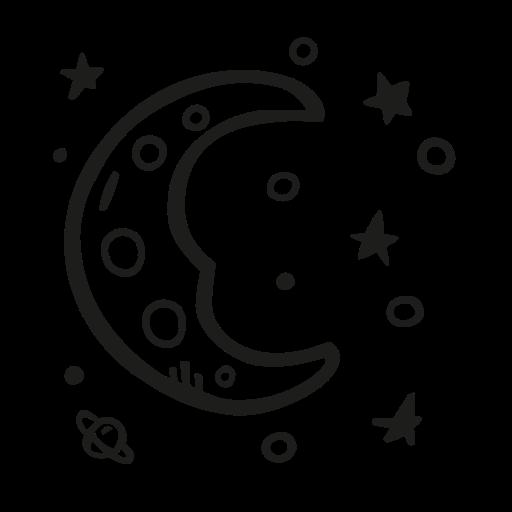 astronomy, dreamy, moon, scifi, space icon