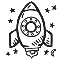 astronomy, launch, rocket, space, space craft, space ship icon