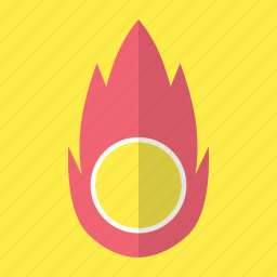 ball fire, comet, fire, galaxy, space icon