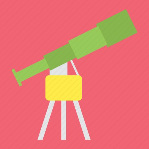 camera, galaxy, look, loop, planet, space, telescope icon
