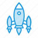 galaxy, invasion, rocket, solar, spaceship, system, universe icon
