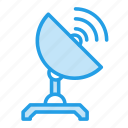 communication, electric, radio, satellite, space, telescope, wave icon