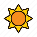 astronomy, space, spaceship, sun icon