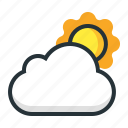 cloudy, day, sky, sun, weather icon