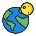 earth, globe, moon, night, world icon