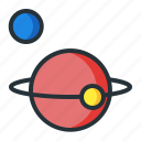 astronomy, galaxy, orbit, planets, space icon