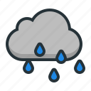 cloud, rain, sun, umbrella, weather icon