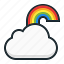 cloud, computing, forecast, rainbow, weather icon