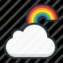 cloud, computing, forecast, rainbow, weather icon