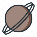 galaxy, planet, saturn, space, universe icon