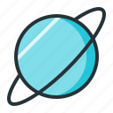 astronomy, galaxy, planet, space, uranus icon