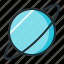 astronomy, galaxy, planet, space, uranus icon