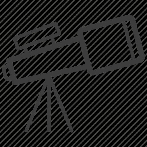astronomy, explore, telescope icon