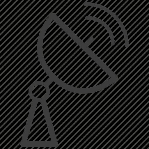 dish, radio telescope, satellite icon
