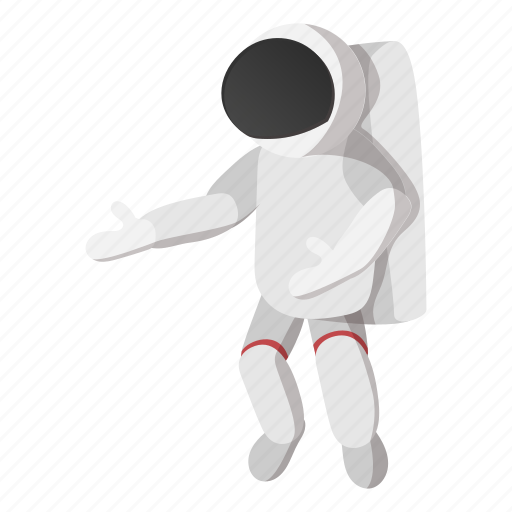 astronaut, cartoon, cosmonaut, science, space, spaceman, technology icon