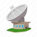 antenna, cartoon, communication, dish, satellite, station, wireless icon