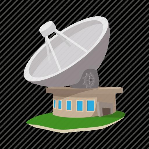antenna, cartoon, communication, dish, satellite, station, wireless icon