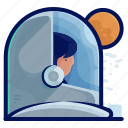astronaut, exploration, man, occupation, space, travel icon