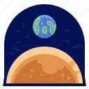 earth, exploration, mars, space, travel icon
