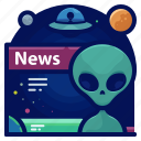alien, exploration, news, space, travel icon