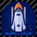 exploration, rocket, ship, space, transportation, travel, vehicle icon