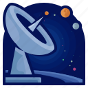 communication, exploration, satellite, space, travel icon