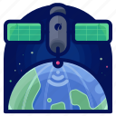 exploration, satellite, space, technology, travel icon