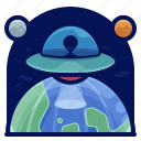 alien, exploration, space, spaceship, travel icon