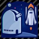exploration, rocket, ship, space, telescope, travel, vehicle