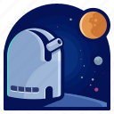 exploration, space, station, telescope, travel icon