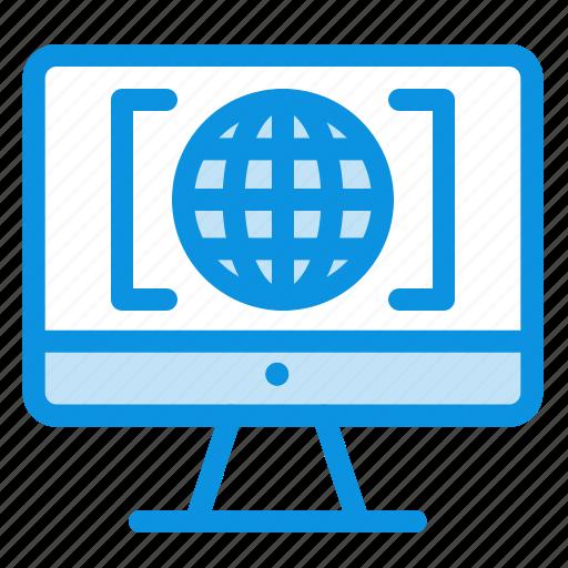 big, computer, internet, think, world icon