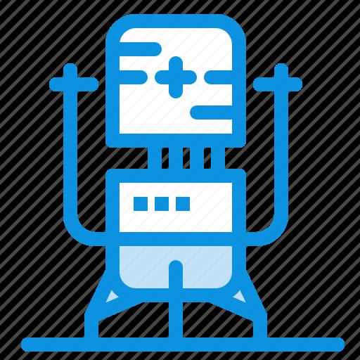 biochip, bot, future, machine, medical icon