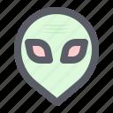 alien, astronomy, face, galaxy, space icon