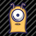 monster, alien, antenna, cute, character