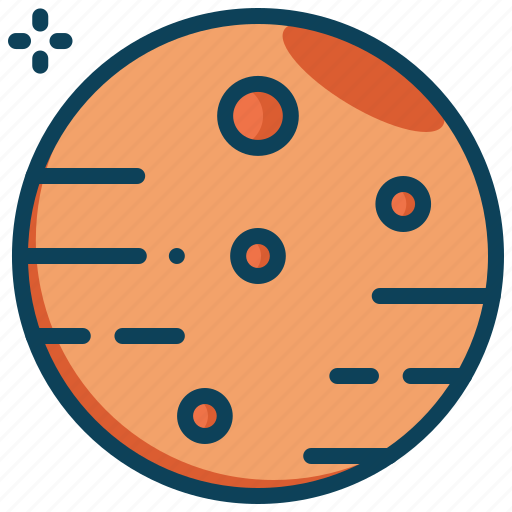 mars, planet, science, space icon