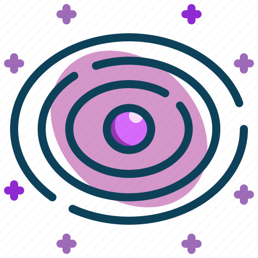 astronomy, galaxy, planets, space, universe icon