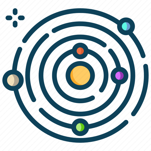 astronomy, orbit, planet, planets, space, universe icon