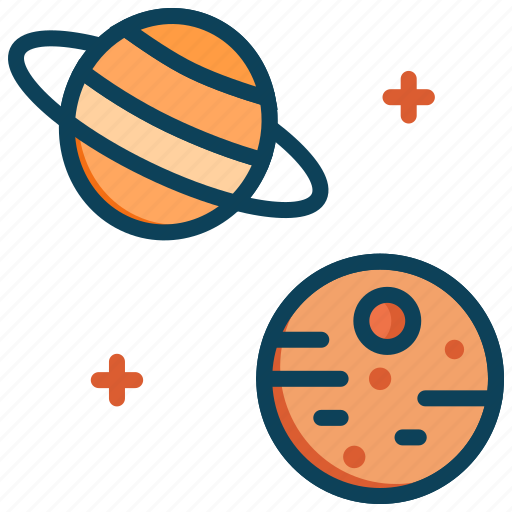 mars, planet, planets, saturn, space icon
