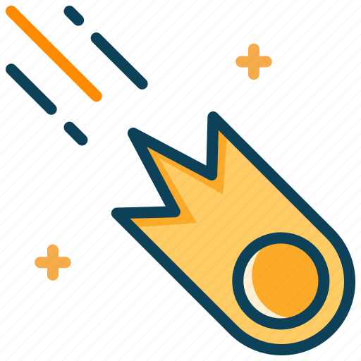 asteroid, astronomy, cosmet, meteor, space icon