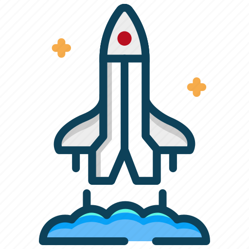 astronaut, launch, rocket, space, space shuttle, spacecraft icon