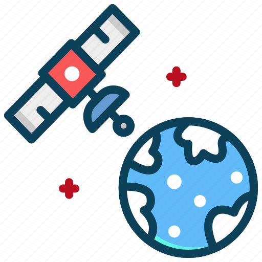 earth, gps, monitor, satellite, space icon