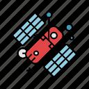 astronaut, cosmos, galaxy, nasa, satellite, science, space icon